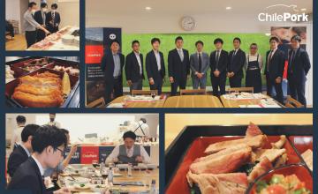 ChilePork realizó cooking shows con medios de prensa especializados e importadores y distribuidores en Japón
